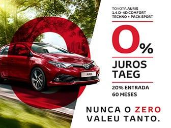 Toyota Auris com 0% de juros