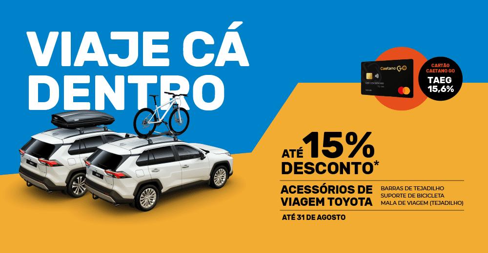 Campanha promoção acessórios de viagem para o carro caetano go